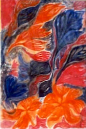 Orange et Bleu - Decorative
