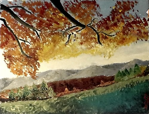 Fall Foliage over the Red Canyon - Figurative